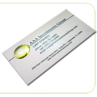 14PT Uncoated Foil Slim Business Cards