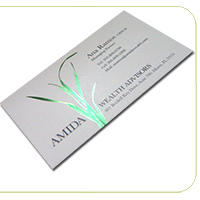 14PT Uncoated Foil Business Cards