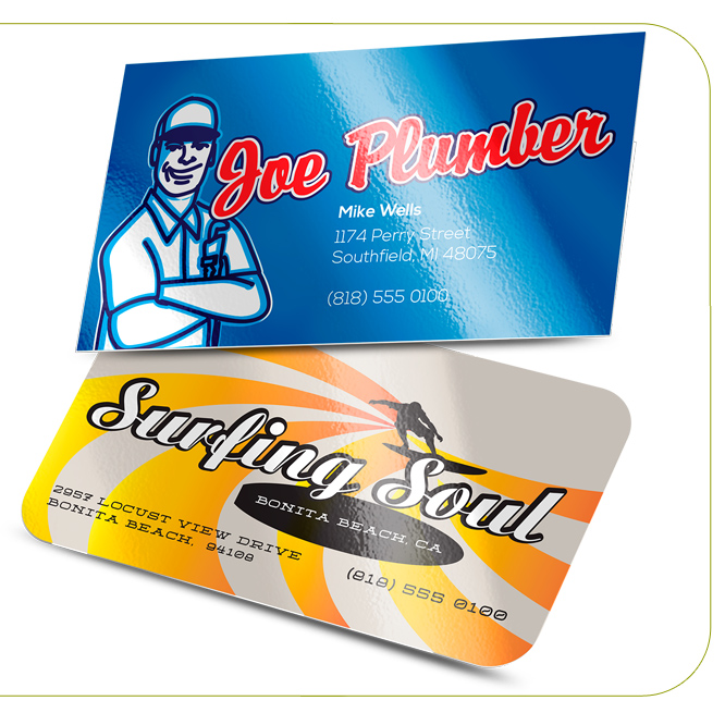Luster Gloss Laminated Business Cards