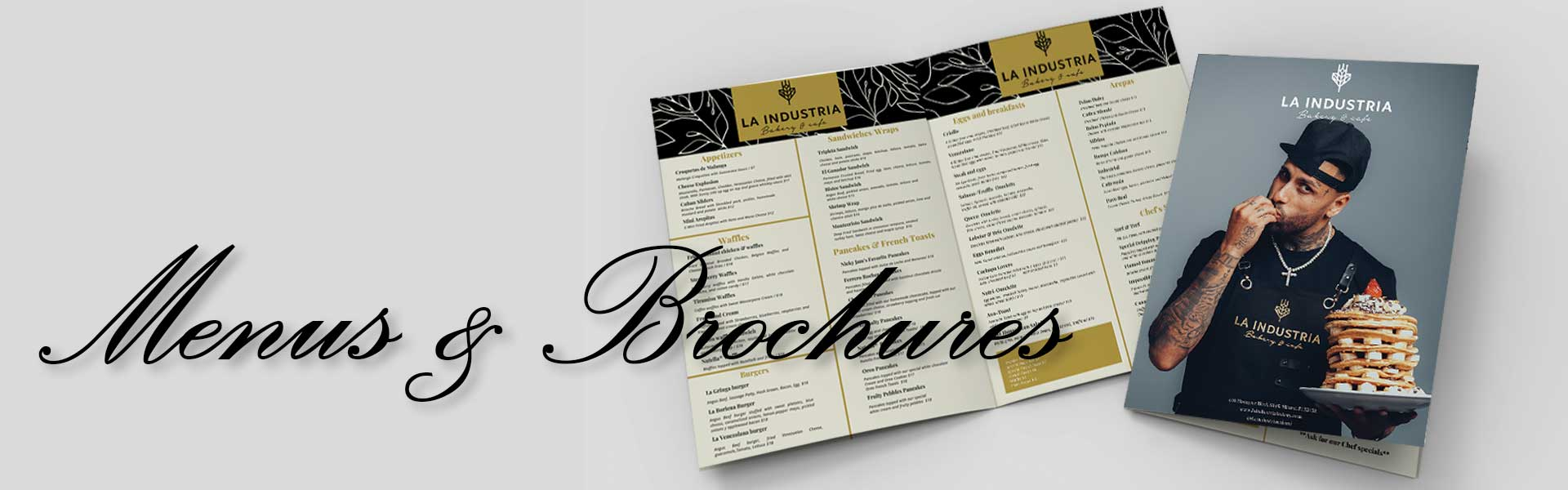 Menus and Brochures