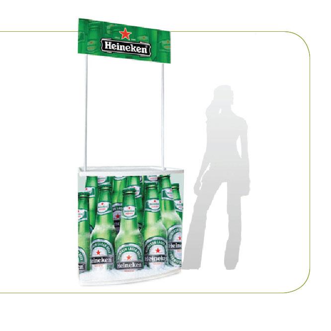 Sales Promotion Counter, White PVC