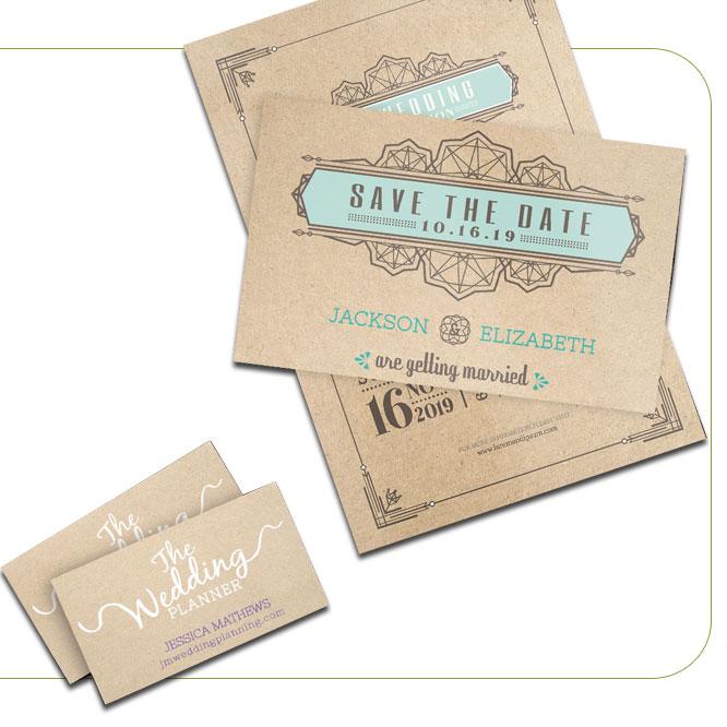 Brown Kraft Announcement Cards