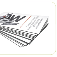 Black Edge Slim Business Cards