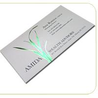 14PT Uncoated Foil Business Cards