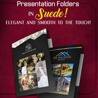 Suede Presentation Folders