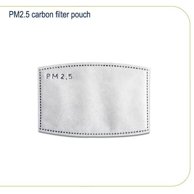PM2.5 carbon filter pouch