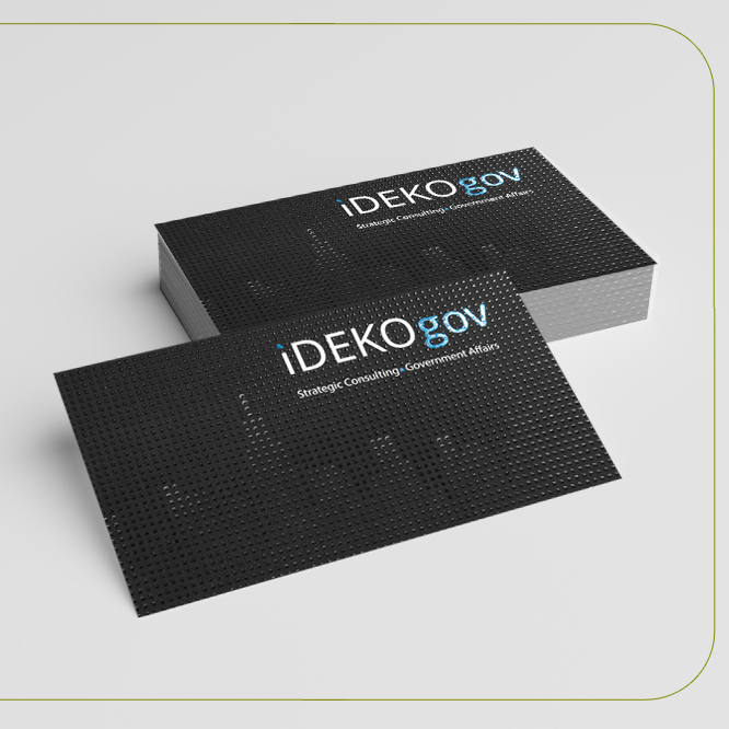 Suede Business Cards Spot UV